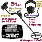NEW Garrett AT PRO Metal Detector with MS-2 Headphones * Fast Free Shipping