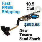 """NEW Tesoro Sand Shark Waterproof Metal Detector with 10.5"""" Coil * FREE Shipping"""