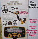 New Garrett Ace 400 Metal Detector with Extra Items  Fast Free Shipping