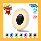 Wake Up Sunrise Light Alarm Clock with FM Radio&Snooze Function, Color Changing!
