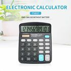 TIANSE Electronic Calculator No Need Battery Solar Power 12 Digital Screen ER
