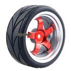4pcs RC Flat Racing Tires Tyre Wheel Rim Fit HSP HPI 1:10 On-Road Car 9050-6081