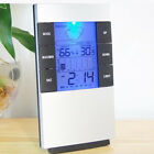 Temperature Wall Meter Digital Brand New Clock Thermometer Clock Hygrometer ABS