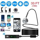 Wireless Endoscope, 8mm Wifi Endoscope Camera HD 1200P Borescope Inspection Came