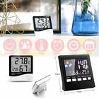 Indoor Hygrometer Weather Forecast LCD Screen Digital Alarm Clock Thermometer