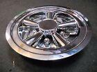 "(1) 8"" Chrome Trailer Wheel Hub Cap Rim Covers SHARP!! Phoenix USA QT8CHM"