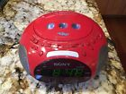 SONY PSYC ICF-CD831 Red Alarm Clock CD Radio Dream Machine