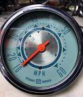 Vintage Rare Stewart Warner Twin Blue 60 MPH 50 Knots Marine Speedometer