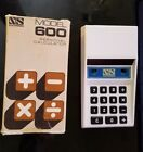 Vintage Red LED calculator NS600 National Semiconductor With Box