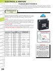 2009-2012 Suzuki Tu250 Yuasa Ytx7L-Bs Maintenance Free 12 Volt Battery YUAM327BS