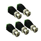 5Pcs Coaxial Coax BNC Male Connector Coax BNC MaleT  Video Balun For CCTV Camera