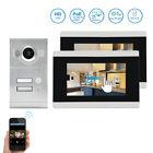 "2 Apartment 720P POE IP Wifi 7"" Record Video Intercom Door Phone  for Smartphone"