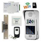 Code Keypad Wireless Wifi 720P Doorbell Video Door Phone Android IOS Strike lock