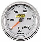 """JEGS Performance Products 41220 2-5/8"""" Mechanical Oil Pressure Gauge 0-100 psi"""