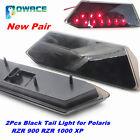 Pair Black LED Tail Light Rear Brake Lamp for Polaris RZR XP 1000 900 S Trail