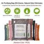 1PCS AIR PURIFYING BAG CHARCOAL COLOR NATURAL ELIMINATOR FRAGRANCE ODORS O0B4