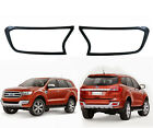 Matte Black Head Lamp Light Cover Fits Ford New Everest 4dr 4x2 4x4 Suv 2015 17