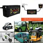 12V 6A Smart Fast Battery Charger For Car Motorcycle LCD Display M2
