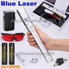 Blue Laser Pointer Rechargeable Laser Pen Focusable Zoomable Laser Torch 2x18650