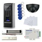 Fingerprint RFID Entry Control Systems Kit & Exit Motiion Sensor +Magnetic Lock