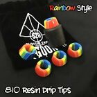 Superior 810 Rainbow Resin Drip Tip Extremely Heat Resistance Free Shipping