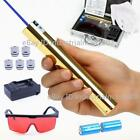 New Blue Laser Pointer Pen 5000LM Rechargeable Focusable Laser Torch 2x16340 US
