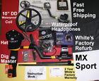 MX Sport Whites Refurb Metal Detector with Bonus Items   Fast FREE Shipping