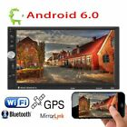 """7"""" Android 6.0 Car Radio Stereo Quad Core 3G WIFI Double 2DIN MP5 Player GPS BP2"""