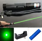 Adjustable Focus 50Miles Green Laser Pointer Pen 532nm 18650 Battery+ Charger