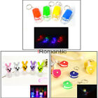 5pcs * Lovely 3D Engraved Key Chain Ring Keyring Car Keychain LED Glowing Light