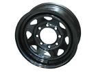 """*6* 16"""" Steel Trailer Wheels Black Spoke 8-6.5"""