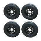 *4* Sailun ST235/85R16 Radial Trailer Tires & Wheels LRG 8-6.5 Black Spoke