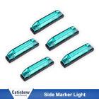"5PCS 4"" Green Waterproof Light Bar Utility strip Side marker Light 6 LEDS AUTO"
