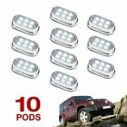 White 60 LED Bright ATV Jeep Rock Lighting - Easy Mount - WHITE 10 PODS fender