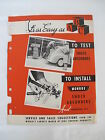 1949 Monroe Shock Absorber Instillation Service Station Repair Brochure Auto Car