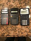 Texas Instruments TI-36X Solar, TI-30XIIS, TI-34 Scientific Calculators