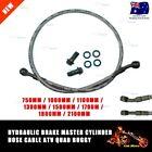 Hydraulic Brake Master Cylinder Hose Cable ATV Quad Buggy 750/1000/1300/1500mm