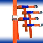 4er Pack 25 Mm Ratchet, Strap, Fixing Strap 250 Dan 50 Cm Orange