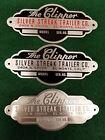 Silver Streak Clipper Vintage Trailer Data Plate Etched Alum. 1940s - 50s CHOICE
