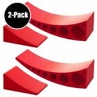 Camper Leveler Chock Kit Leveling Blocks Hitches Camper Trailer RV Red 2 Pack