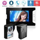 "7"" Wired Video Camera Door Phone Doorbell Night Vision Intercom Monitor Security"