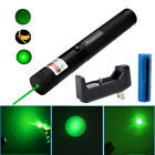 2in1 Star Cap Green Laser Pen Pointer 532nm 50Miles Sinlge Beam Battery+Charger