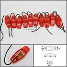 10 - Optronics Red LED light Clearance Marker Trailer Truck Surface Mount 1 wire