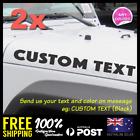 2x Custom Text Personalised Jeep Wrangler Hood Fender Bonnet Decal Sticker 580mm