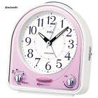 SEIKO CLOCK Analog Alarm Clock (Pink) NR435P New