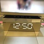 LivingRoom Study Clock Alarm With Mirror LED Digital Night Light Thermometer IH