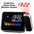 Alarm Clock with Digital LCD Projection and Calendar Weather Forecast Station