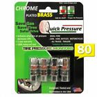 Quick Pressure QP-000080 Chrome Plated Brass 80 psi Tire Pressure Monitoring Val