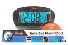 Equity Battery Powered Digital Snooze Alarm Clock Insta-Set LCD Model 31022