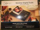 slimline digital scale weighs up to 11lbs. of food